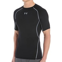 Under Armour 1257468 HeatGear Armour Compression Short Sleeve Shirt (Black/Steel M)