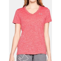 Under Armour 1258568 UA Tech Twist V-Neck Short Sleeve T-Shirt (Watermelon/Silver XL) found on Bargain Bro India from herroom.com for $24.98