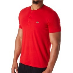 Lacoste TH0884-51 Pima Cotton Jersey Henley (Red XL) found on MODAPINS from hisroom.com for USD $59.50