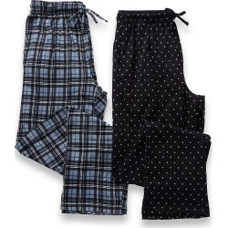 Hanes 4227 X-Temp Printed Knit Lounge Pants - 2 Pack (Black Assort M) found on Bargain Bro India from hisroom.com for $49.00