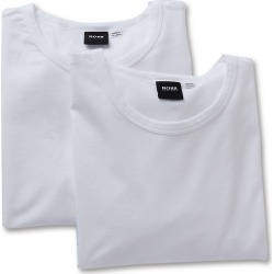 Boss Hugo Boss 0325407 Essential Cotton Stretch Slim Fit Crew - 2 Pack (White L) found on MODAPINS from hisroom.com for USD $42.00