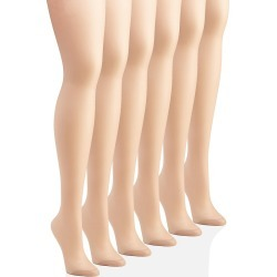 Hanes C06718 Silk Reflections Control Top Reinforced Toe 6 Pack (Little Color E/F) found on Bargain Bro India from herroom.com for $40.00