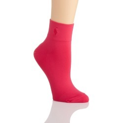 Ralph Lauren 79081 Microfiber Anklet Sock (Pink O/S) found on Bargain Bro India from herroom.com for $8.00