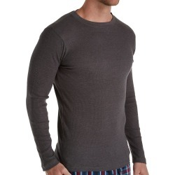 Hanes 4222X Big Man Solid Long Sleeve Waffle Crew (Charcoal Heather 7XL) found on Bargain Bro India from hisroom.com for $35.00