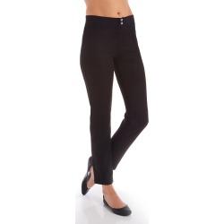 Hue 20686 Microsuede Straight Leg Leggings (Black XL)