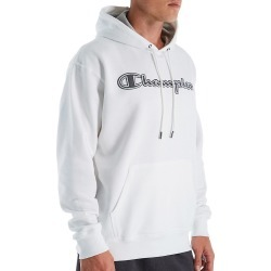 Champion GF89H-2 Graphic Powerblend Fleece Hoodie w/Applique (White XL) found on Bargain Bro Philippines from hisroom.com for $38.00