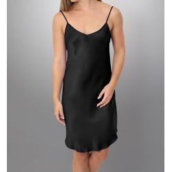 Linda Hartman 51024 Classic Hart Low Back Silk Charmeuse Chemise (Black XL) found on Bargain Bro India from herroom.com for $106.00