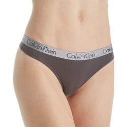 Calvin Klein QD3539 Radiant Cotton Thong (Ashford Grey XL) found on Bargain Bro India from herroom.com for $15.00