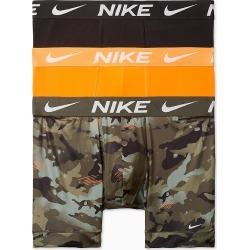 Nike KE1015 Essential Stretch Micro Boxer Briefs - 3 Pack (Khaki/Orange/Black XL) found on Bargain Bro India from hisroom.com for $38.00