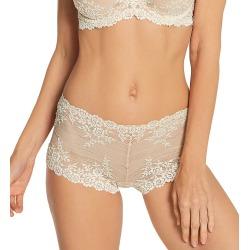 Wacoal 67491 Embrace Lace Boyshort Panty (Sand 5) found on Bargain Bro India from herroom.com for $32.00