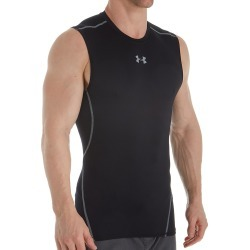 Under Armour 1257469 HeatGear Armour Sleeveless Compression Shirt (Black/Steel M) found on Bargain Bro Philippines from hisroom.com for $24.98