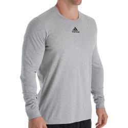 Adidas EK02 Amplifier Long Sleeve Logo T-Shirt (Medium Grey Heather XL) found on Bargain Bro from hisroom.com for USD $15.20