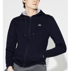 23da7441028c Lacoste SH7609 Sport Tennis Fleece Full Zip Hoodie (Navy Blue Silver Chine  2XL)
