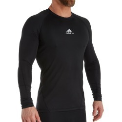 Adidas 841T Alphaskin Long Sleeve Compression T-Shirt (Black S) found on Bargain Bro from hisroom.com for USD $26.60