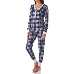 Tommy Hilfiger R89S007 Thermal Henley & Jogger Ski PJ Set (CollegeGreyPlaidPrint M) found on Bargain Bro Philippines from herroom.com for $68.00