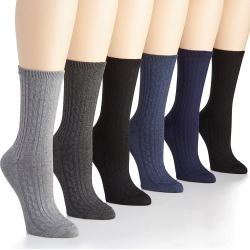 Ralph Lauren L3117 Cable Texture Trouser Sock - 6 Pair Pack (Ghast O/S) found on Bargain Bro India from herroom.com for $20.00