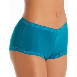 Maidenform 40760 Classics Microfiber and Lace Boyshort Panty (Teal Tide 9) found on Bargain Bro India from herroom.com for $8.40