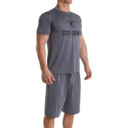 Stacy Adams SA6007 Men's Shorts Sleep Set (Gray 4XL) found on Bargain Bro India from hisroom.com for $19.95