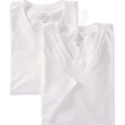 Calvin Klein NU8581 Big Man 100% Cotton V-Neck - 2 Pack (White 3XL) found on MODAPINS from hisroom.com for USD $39.50