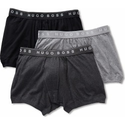 Boss Hugo Boss 0325384 Essential 100% Cotton Boxer Briefs - 3 Pack (Charcoal/Black/Grey S) found on MODAPINS from hisroom.com for USD $39.00