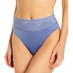 Bali DFPC62 Passion For Comfort Hi-Cut Brief Panty (Chateau Blue 8) found on Bargain Bro India from herroom.com for $8.75