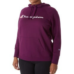 Champion GF140Y Plus Powerblend Fleece Graphic Pullover Hoodie (Venetian Purple 3X) found on Bargain Bro India from herroom.com for $35.00