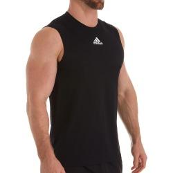 Adidas EK009 Climalite Regular Fit Sleeveless T-Shirt (Black 3XL) found on Bargain Bro from hisroom.com for USD $19.00