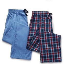 Hanes 4025T Tall Man Woven Plaid Pants - 2 Pack (Blue/Red Plaid LT) found on Bargain Bro India from hisroom.com for $45.00