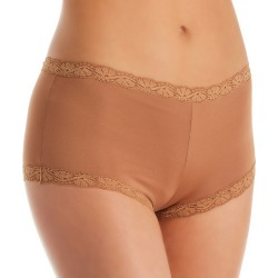 Maidenform 40760 Classics Microfiber and Lace Boyshort Panty (Cinnamon Butter 7) found on Bargain Bro India from herroom.com for $8.40