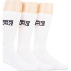 Calvin Klein 201CR05 Boxed Logo Cushion Crew Socks - 3 Pack (White O/S) found on Bargain Bro Philippines from hisroom.com for $20.00