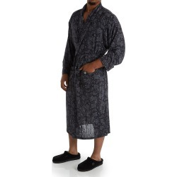 Stacy Adams SA6009 Moisture Wicking ComfortBlend Fashion Robe (Black Paisley 2X/3X) found on Bargain Bro India from hisroom.com for $37.80