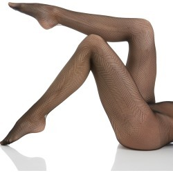 Hanes HFT016 Fashion Chevron Net Tights (Black M) found on Bargain Bro Philippines from herroom.com for $7.00