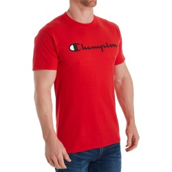 Champion GT23H Classic Graphic Logo Jersey T-Shirt (Scarlet M) found on Bargain Bro Philippines from hisroom.com for $25.00