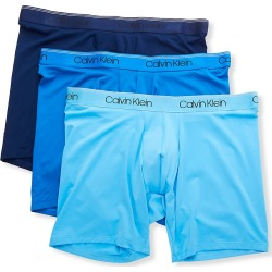 Calvin Klein NB2928 Big & Tall Micro Stretch Boxer Briefs - 3 Pack (Navy/Artesian/Blue 4XL) found on Bargain Bro Philippines from hisroom.com for $59.50