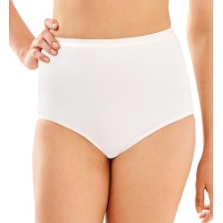 Bali 2324 Full-Cut-Fit Stretch Cotton Brief Panty (White 9) found on Bargain Bro India from herroom.com for $11.00