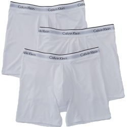 Calvin Klein NB1290 Microfiber Stretch Boxer Briefs - 3 Pack (White M) found on Bargain Bro India from hisroom.com for $42.50