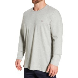 Tommy Hilfiger 09T3118 Long Sleeve Flag Crew Neck T-Shirt (Grey Heather XL) found on Bargain Bro Philippines from hisroom.com for $26.00