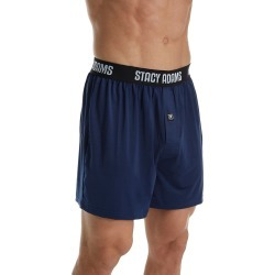 Stacy Adams SA1000 Moisture Wicking ComfortBlend Boxer Short (Navy 3XL) found on Bargain Bro India from hisroom.com for $13.30