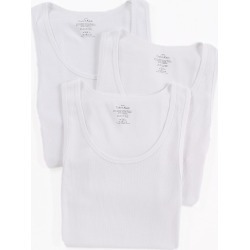 Calvin Klein NM9070 Cotton Classic Ribbed Tank Top - 3 Pack (White S) found on Bargain Bro India from hisroom.com for $39.50