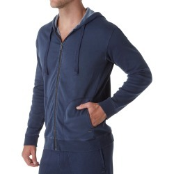 UGG 1019594 Elliot Washed Double Knit Fleece Hoodie (Navy L) found on Bargain Bro Philippines from hisroom.com for $77.95