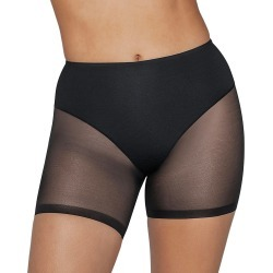Leonisa 012769 Truly Undetectable Sheer Compression Short (Black XL)