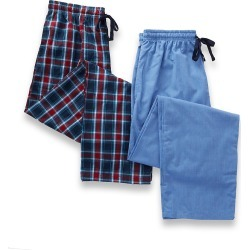 Hanes 4025A Woven Plaid Pants - 2 Pack (Blue/Red Plaid L) found on Bargain Bro India from hisroom.com for $47.00