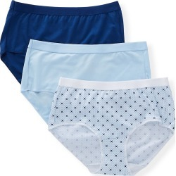 Hanes 40XTSA Ultimate X-Temp ComfortBlend Brief Panty - 3 Pack (BluTul/GeoGrid/EstBlue 7) found on Bargain Bro Philippines from herroom.com for $18.20