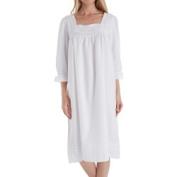 Thea 8010 Amarante Fine Brushed Cotton Flannel Gown (White M) found on Bargain Bro India from herroom.com for $94.00