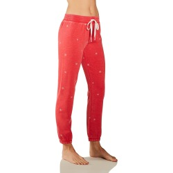 PJ Salvage RVJSP1 Cozy Fleece Snowflake Jogger (Red Hot L) found on Bargain Bro India from herroom.com for $57.00