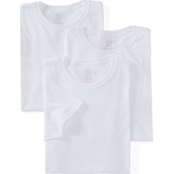 Fruit Of The Loom 2828 Stay Tucked Cotton Crew T-Shirt - 3 Pack (White S)