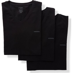 Diesel SHGUJAQX Michael Cotton Stretch V Neck T-Shirts - 3 Pack (Black M) found on Bargain Bro Philippines from hisroom.com for $44.00