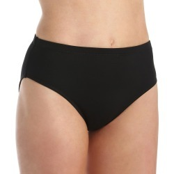 La Blanca LB6BA90 Island Hi-Waist Tummy Toner Swim Bottom (Black 10) found on Bargain Bro India from herroom.com for $43.00