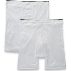 Jockey 1189 Big Man Pouch Midway Boxer Briefs - 2 Pack (White 3XL)