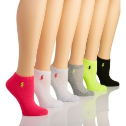 Ralph Lauren 7270000 RL Sport Active Sock - 6 Pair Pack (Hot Pink Assorted O/S) found on Bargain Bro India from herroom.com for $20.00